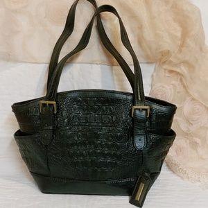 Black Leather Shoulder Bag by Tigna
